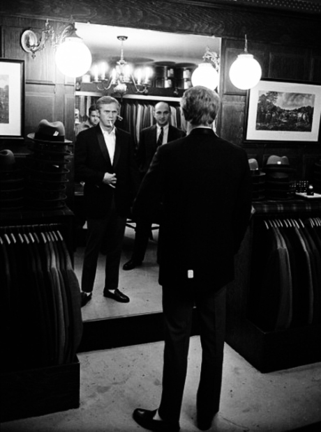 Steve McQueen Shops For Suits